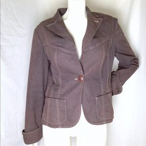 Style & Co Brown Blazer Career Jacket